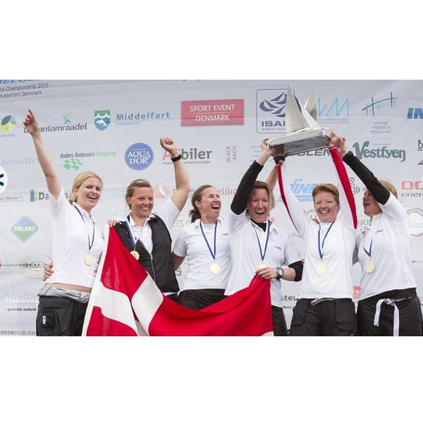 ISAF WOMENS MATCH RACING WORLD CHAMPIONSHIP TROPHY - 12-07-2015 Lotte Meldgaard's Danish team win the 2015 ISAF Women's Match Racing World Championship