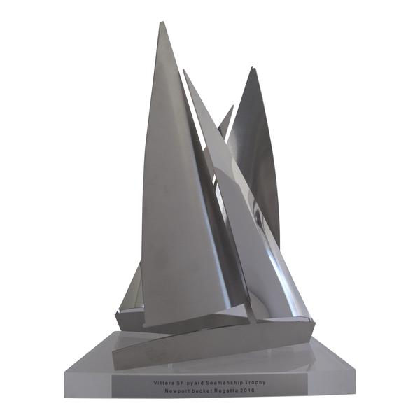 Vitters Shipyard Seamanship Trophy 2015 - Awarded to the yacht in the Bucket Regatta that demonstrates the best seamanship and sportsmanship in the interest of promoting safety on the race course. All participants in the Bucket acknowledge that superyachts have serious limitations operating safely in close quarters and therefore, the RC has always valued safety well above performance. This award will recognize the yacht that best demonstrates that understanding. It also goes to prove that nice guys don't always finish last!!Vitters Shipyard Zwartsluis is bouwer van de zeven superjachten voor de Volvo Ocean Race 2015.